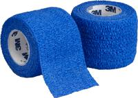 COBAN SELF ADHERENT BLUE  3INCH 1/RL