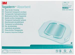 TEGADERM ABSORBENT 5 5/8 X 6 OVAL 5/BX