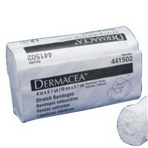 DERMACEA STERILE STRETCH BANDAGE 3IN X 4YDS  12/BG