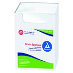 DRAIN SPONGE 4 X4  STER  2EA /PACK
