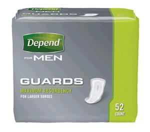 DEPEND GUARDS FOR MEN MAX ABS 52/PK