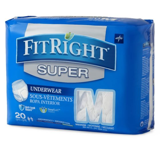 PROTECTIVE UNDERWEAR MEDIUM 80/CS