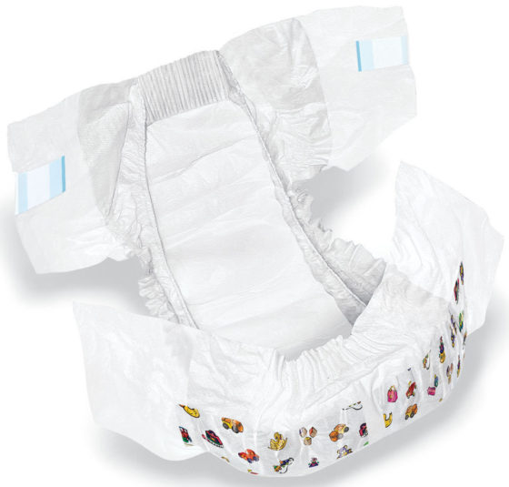 DRY TIME BABY DIAPERS 6-14LB 224/CASE