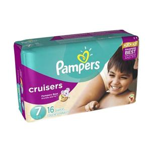 PAMPERS CRUISERS DIAPERS SIZE 7  16/PACK