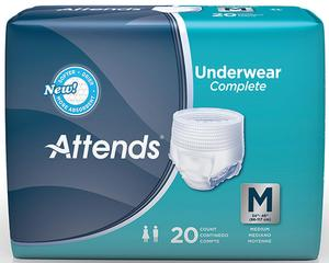 ATTENDS PULL-ONS UNDERWEAR MEDIUM 80/CS