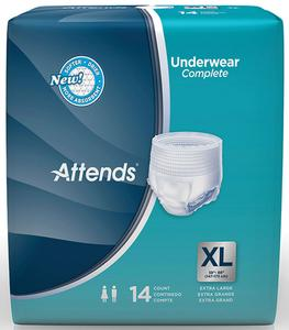 ATTENDS PULL-ONS X-LARGE UNDERWEAR 56/CS
