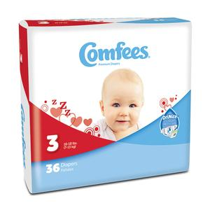 COMFEES DIAPERS 16-28LB  144/CS