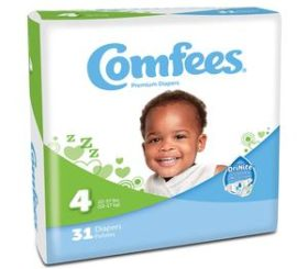 COMFEES DIAPERS SIZE 4  124/CS