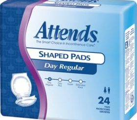 ATTENDS SHAPED PAD DAY PLUS 96/CS