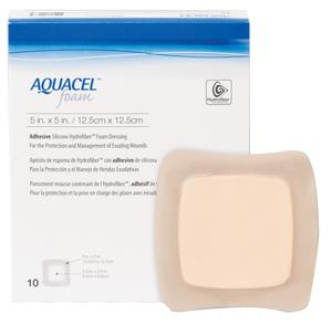 AQUACEL ADHESIVE FOAM 5IN X 5IN  10/BX