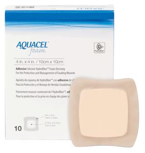 AQUACEL FOAM DRESSING 4X4 1/EA