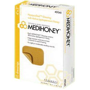 MEDIHONEY HYDROCOLLOID 2X2  10/BX