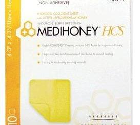 MEDIHONEY NON ADHESIVE HCS 4.3 X 4.3  10/BX
