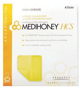 MEDIHONEY NON ADHESIVE HCS 4.3 X 4.3  1/EA