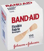 BANDAIDS FLEXIBLE FABRIC LARGE 1 3/4  X 4
