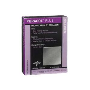 PURACOL PLUS AG 2IN X 2IN DRESSING 10/BX