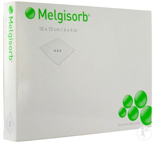 MELGISORB 4 X 4  CALCIUM ALGINATE 10/BX