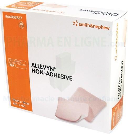 ALLEVYN 4 X4  FOAM DRESSING 10/BX