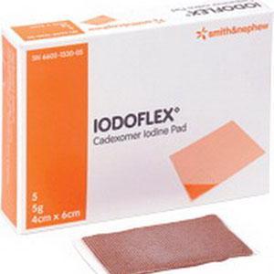 IODOFLEX PAD 4CM X 6CM 5/BX
