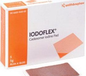IODOFLEX PAD 6CM X 8CM  3/BX