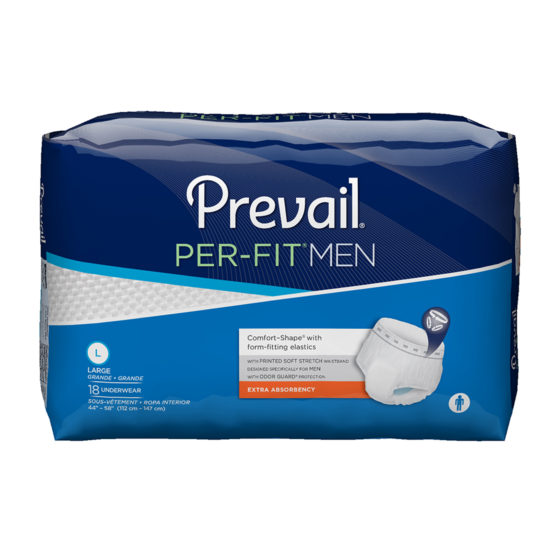 Prevail Underwear Per Fit Pull On Large 72/cs